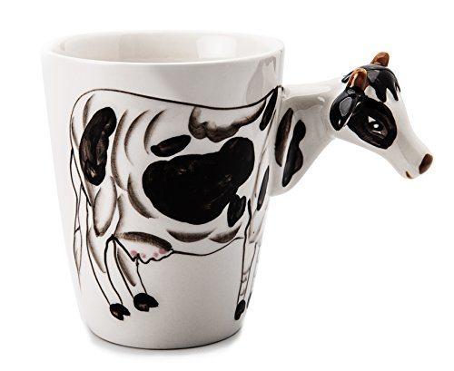 likang 3d hand painted ceramic coffee mug funny cow animal