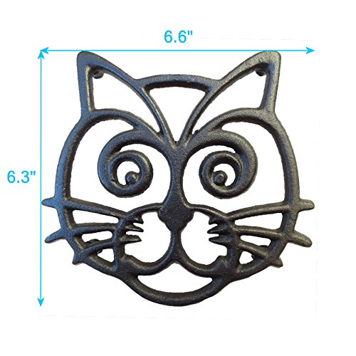 Cat-Trivet-Black-Cast-Iron-for-Kitchen-Dining-Table-More