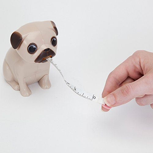 Pug Tape Measure Includes Measurements In Both Inches And