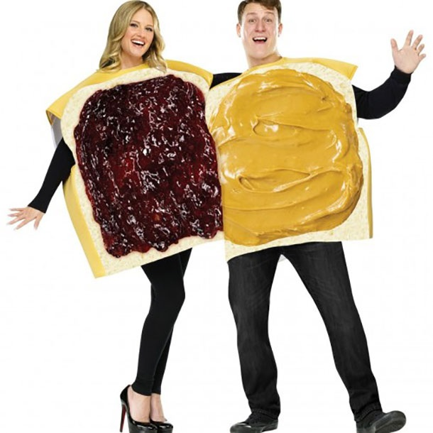 Peanut Butter And Jelly Couples Costume Set