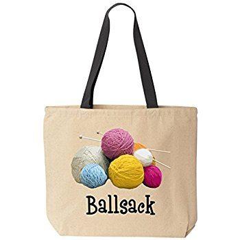 Funny Ballsack Tote Bag