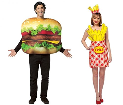 Cheeseburger and French Fries Couples Costume
