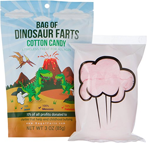Bag of Dinosaur Farts Cotton Candy
