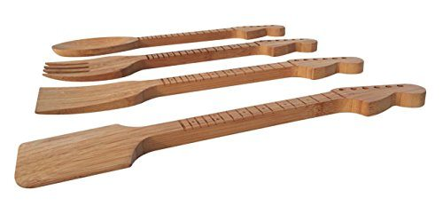 Bamboo Guitar Shaped Kitchen Utensils