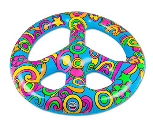 Giant Peace Sign Pool Float Stop The Boring
