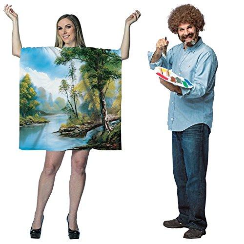 Bob Ross Artist Couples Costume Set