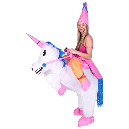 Inflatable Piggyback Unicorn Princess Costume