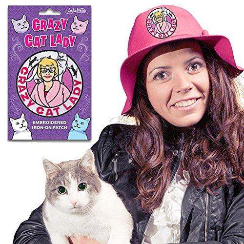 Crazy Cat Lady Embroidered Iron-On Patch