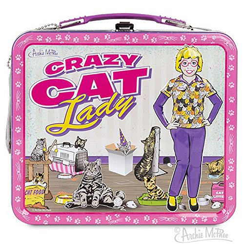 Crazy Cat Lady Retro Lunch Box
