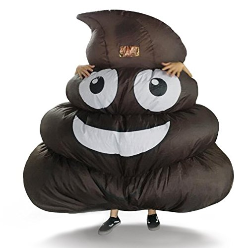 Inflatable Giant Poop Emoji Costume