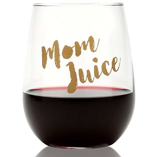 Funny Mom Juice Wine Glass