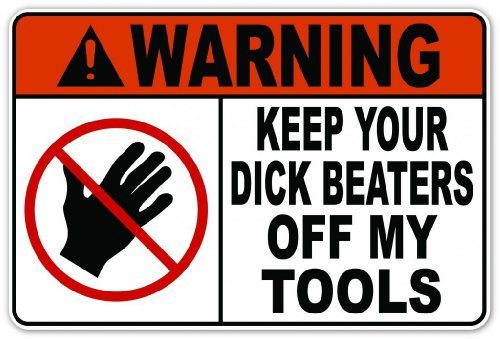 Funny Tool Warning Sticker