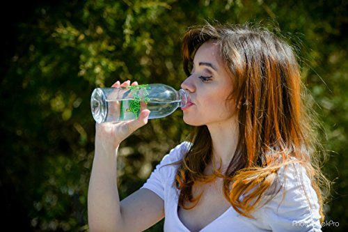 Hose Water Reusable Glass Water Bottle