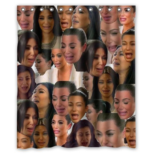 Crying Kim Kardashian Shower Curtain