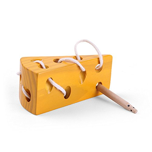 Wooden Cheese Lacing Toy 2