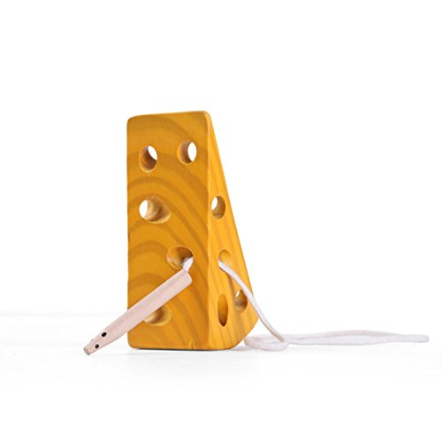 Wooden Cheese Lacing Toy