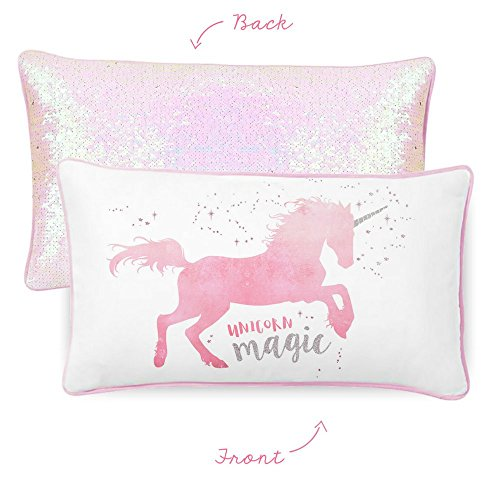 Magical Unicorn Pillow with Reversible Sequins