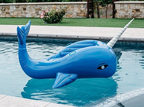Giant Inflatable Narwhal Pool Float