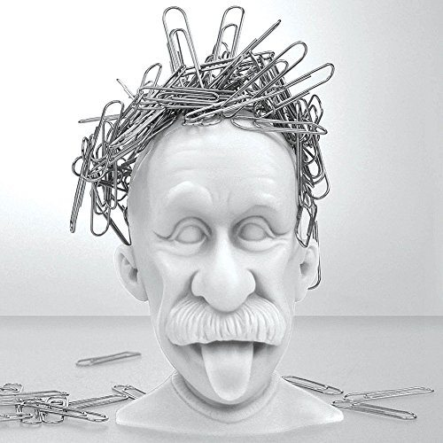 Albert Einstein Magnetic Paper Clip Holder