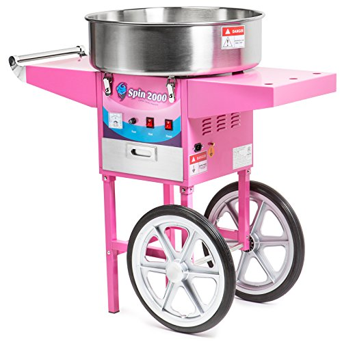 Cotton Candy Machine Cart and Electric Candy Floss Maker