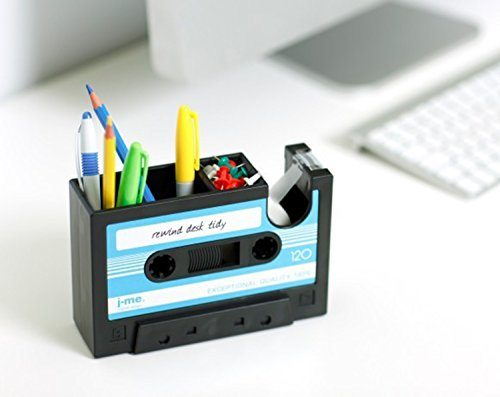 Cassette Tape Dispenser and Pencil Holder
