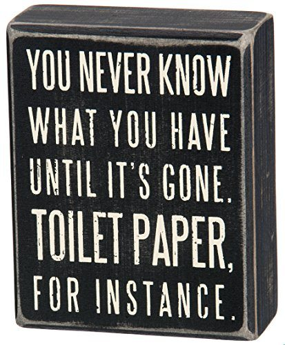 Funny Toilet Paper Bathroom Sign