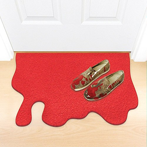 Red Blood Splatter Doormat