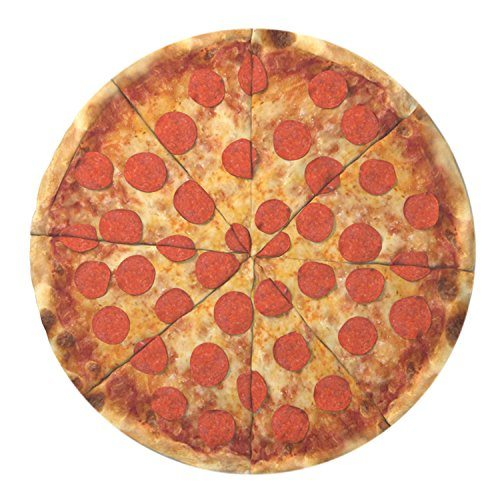 Round Pizza Beach Towel