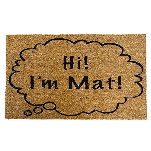 """""""Hi I'm Mat"""" Funny Doormat"""