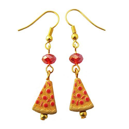 Small Pizza Earrings