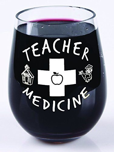 Teacher Medicine Wine Glass