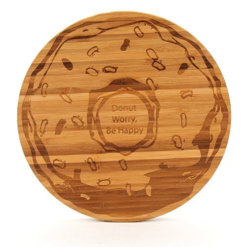 Donut Worry Be Happy Round Cutting Board