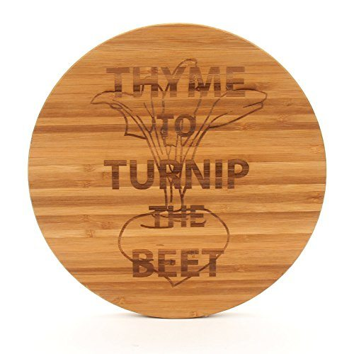 Thyme To Turnip The Beet Round Cutting Board
