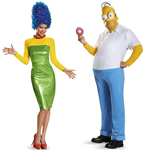 Homer and Marge Simpson Couples Costume