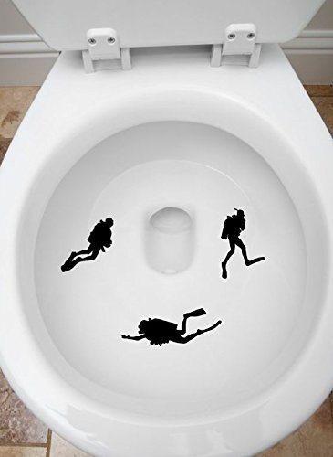 Scuba Diver Toilet Targets