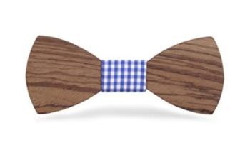 Solid Wood Bow Tie