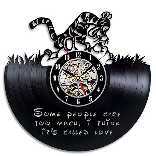 Winnie The Pooh Vinyl Record Wall Clock