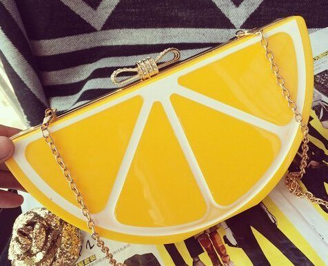 Lemon Clutch Purse