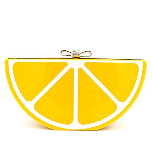 Lemon Clutch Purse