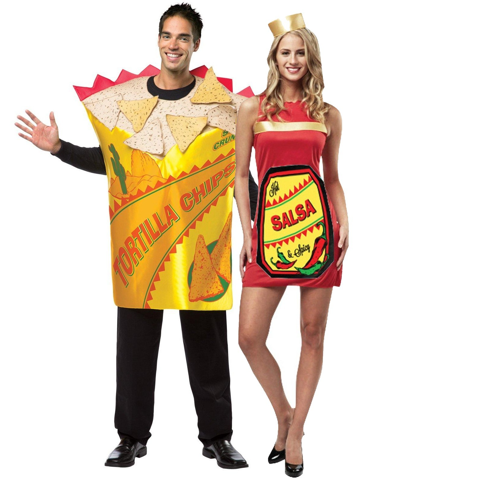Salsa and Tortilla Chips Couples Costume  sc 1 st  Stop The Boring & Salsa and Tortilla Chips Couples Costume | Stop The Boring