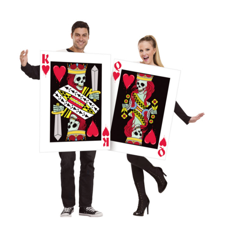 Skeleton King And Queen Of Hearts Couples Costume