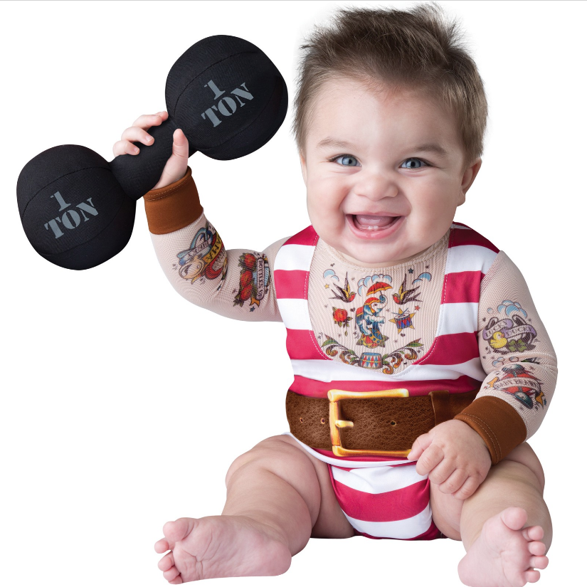 Silly Strongman Baby Costume