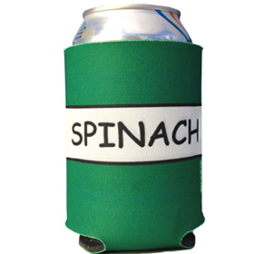Spinach Can Koozie