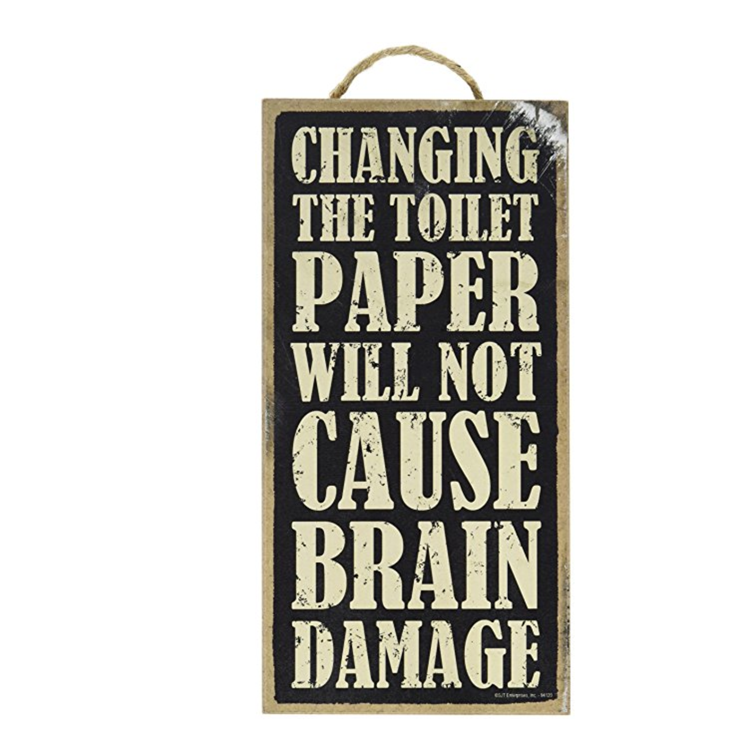 Changing the Toilet Paper Bathroom Sign