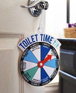 Bathroom Door Toilet Time Spinner Sign.