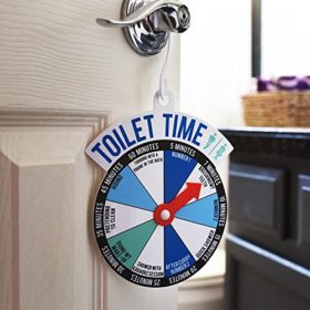 Bathroom Door Toilet Time Spinner Sign.