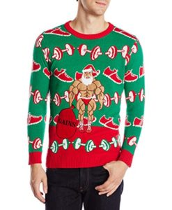 Fitness Santa Ugly Christmas Sweater
