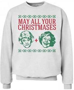 May All Your Christmases Bea White Funny Golden Girls Christmas Sweater