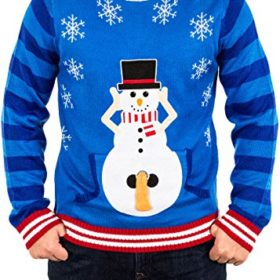 Festified-Mens-Excited-Snowman-Ugly-Funny-Christmas-Sweater-in-Blue-By-0-0