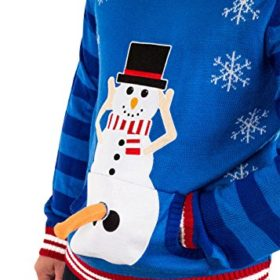 Festified-Mens-Excited-Snowman-Ugly-Funny-Christmas-Sweater-in-Blue-By-0-2